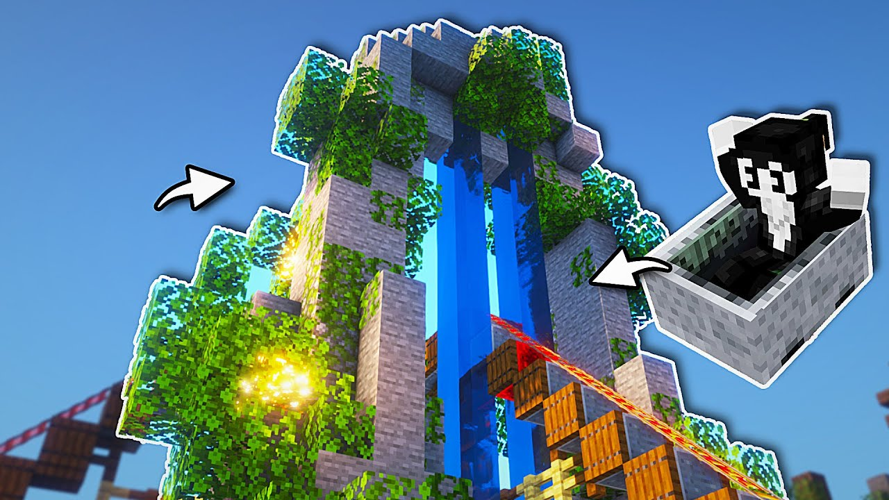Minecraft Roller Coaster: Timelapse