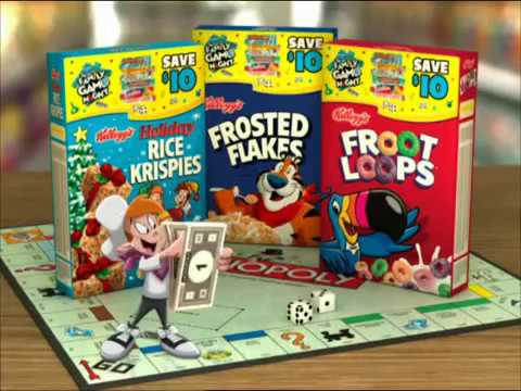HASBRO Froot Loops Rice Krispies Frosted Flakes commercial