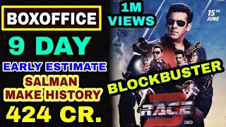 Race 3 Boxoffice Collection, Race 9th day Boxoffice Collection, Salman khan Breaks Bollywood Record