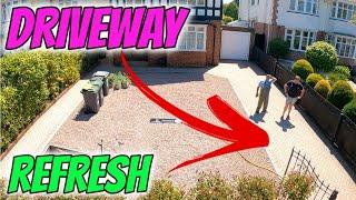 Pressure washing driveway refresh