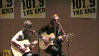 "We the Kings ""Secret Valentine"" (acoustic) at 101.9 The End"