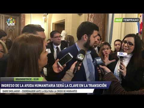 EEUU - Smolansky aseguró que entrada de ayuda humanitaria es inminente- VPItv