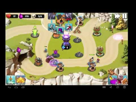 CAVERN CLASH! GARDEN! Castle Creeps TD! Tower Defense Gameplay On Android/iOs HD