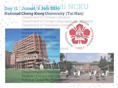 Univeristy Summer Campus Tour in Taiwan 2016