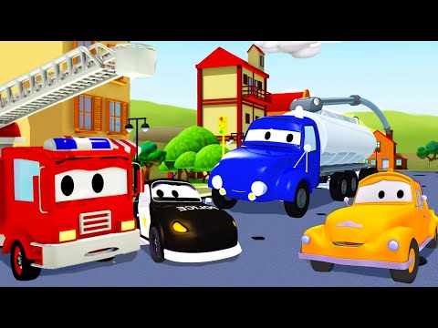 The Car Patrol and Tom The Tow Truck with the Tanker in Car City | Cartoon for kids