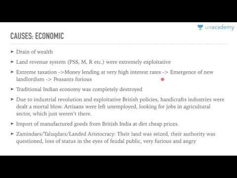 Unacademy History UPSC:  The Revolt of 1857: 1.2 Causes by Roman Saini