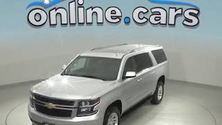 A99081TR Used 2018 Chevrolet Suburban LT 4WD SUV Silver Test Drive, Review, For Sale