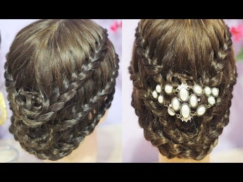 Elegant Triple Lace Rose Braided Bun Tutorial Tudors