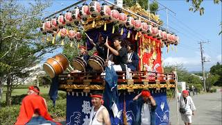 安房神社1300年祭:根本三嶋神社の山車入場 H30aw02 thumbnail