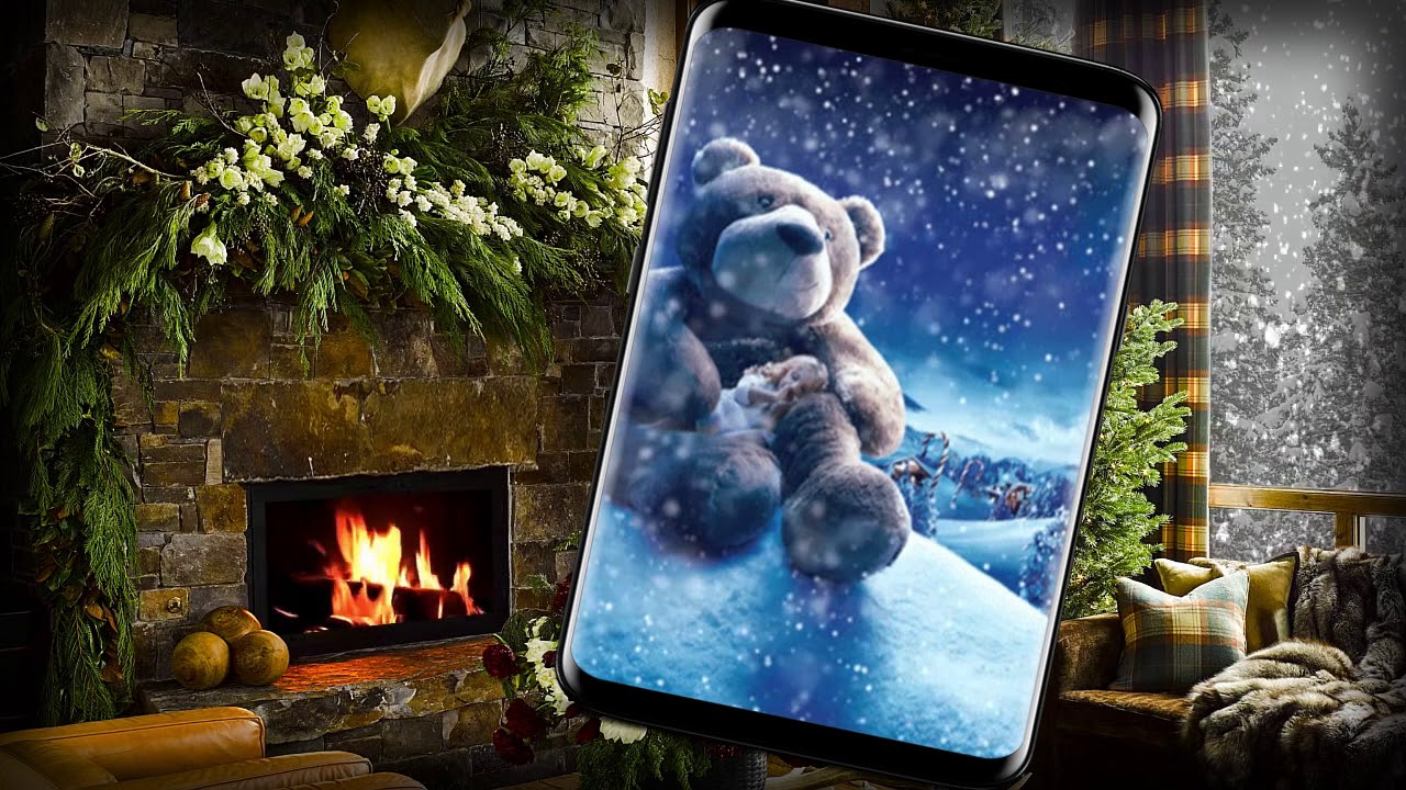snowy christmas night live wallpaper - youtube