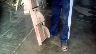 Wooden Folding Corner Book Rack