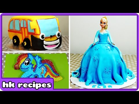 Delicious Cartoon Character Cakes So Good You'll Wish You Had Baked | Birthday Cake Recipes