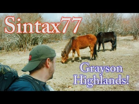 Hiking the Grayson Highlands - Solo Backpacking Trip