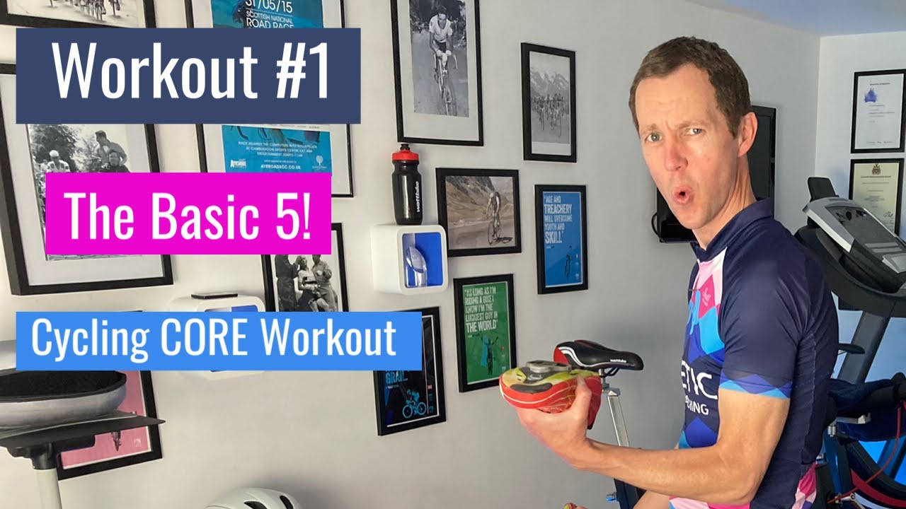 Cycling Core Exercise to Improve Strength and Stability in 5 mins (workout #1 The basic 5)