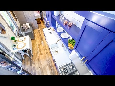 Gorgeous Steel Structure Tiny House With Spacious Loft & Foldable Porch