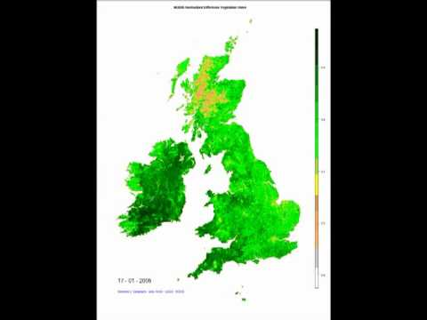 Green-up in the British Isles (Jan 2001-Dec 2010)