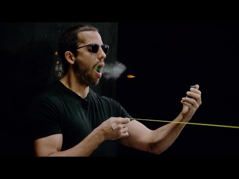 Thumbnail: David Blaine catches a bullet in his mouth | David Blaine