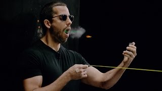 David Blaine catches a bullet in his mouth | David Blaine