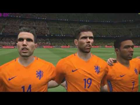 PES 2017 || PC gameplay 4k resolution || Netherlands vs Brazil