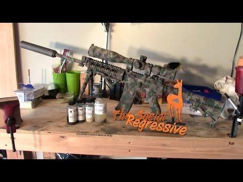DIY Duracoat USMC MARPAT Woodland Digital Camouflage Paint on RRA AR15 | The Social Regressive