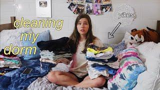 Cleaning My Dorm Room || Virginia Tech ft Poshmark