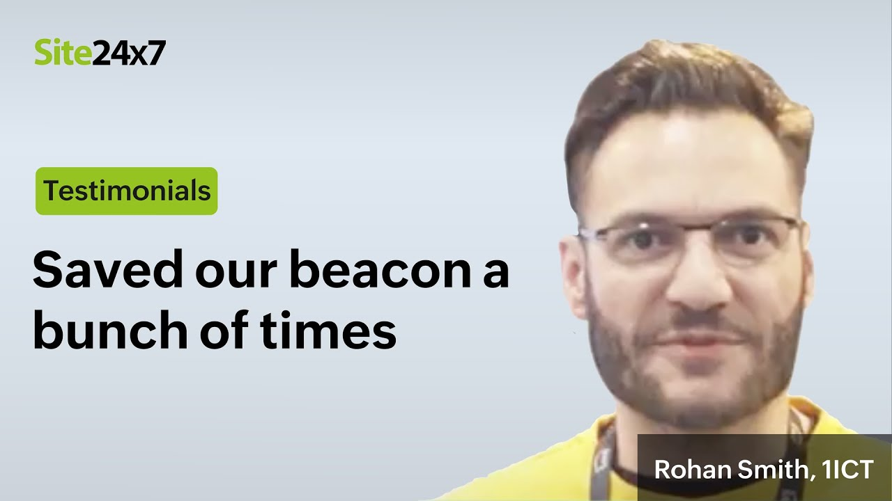 Beat downtime with Site24x7 says Rohan Smith