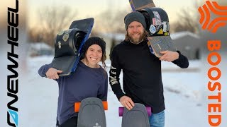 BOOSTED BOARD VS ONEWHEEL IN SNOW