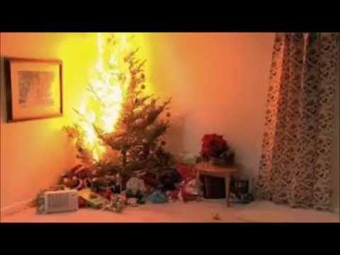 holly golightly-christmas tree on fire