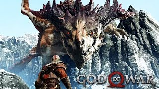 DRAGON VS KRATOS Full Boss Fight GOD OF WAR 2018 (PS4 PRO)
