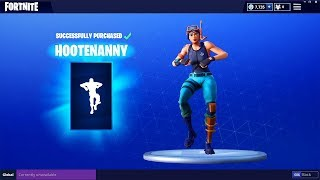 "FORTNITE ""HOOTENANNY"" DANCE EMOTE ( Peau en vedette et quotidienne - Articles Fortnite 01.05.2018"