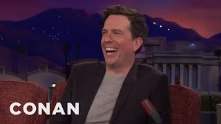 Ed Helms Bonded With Zach Galifianakis Over Their Hatred Of Sports  - CONAN on TBS