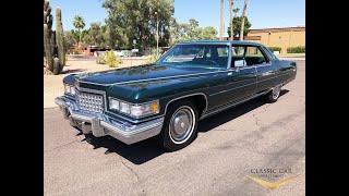 1976 Cadillac Sedan DeVille Only 13k Miles SOLD