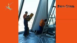 Монтаж меж-офисных перегородок с помощью полотна натяжного потолка(, 2016-06-29T09:32:24.000Z)