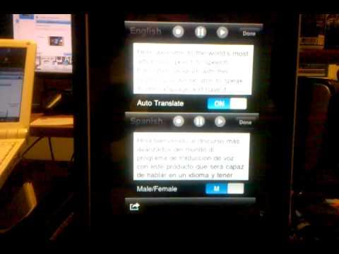 SpeechTrans Speech Translator For The IPhone English/Spanish - Spanish/English