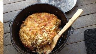 Chicken Spaghetti In The Lodge Dutch Oven (in The Bbq!)
