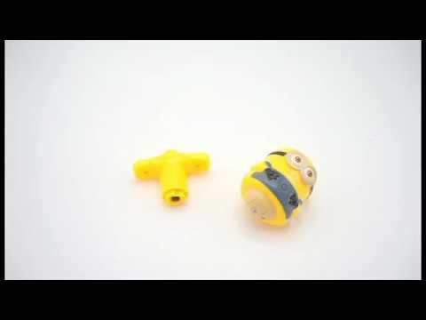 Little Yellow Man Flashing Light and Sound Spinning Top | ONNISO Toys