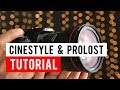 Installing Cinestyle or Prolost Flat Color Profiles on a Canon SL2