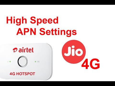 JIO 4G APN Settings For Unlocked Airtel Huawei E 5573 4G Wi-Fi Router