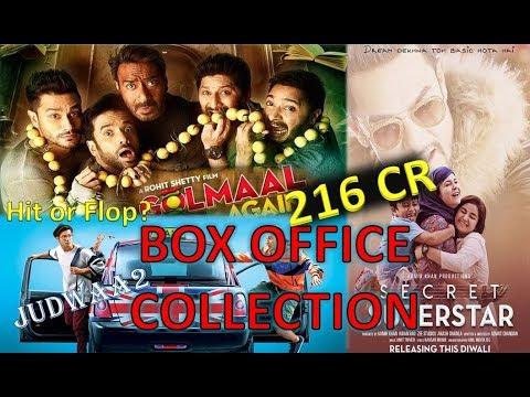 Box Office Collection Of Golmaal Again, Secret Superstar, Judwaa 2 Movie 2017