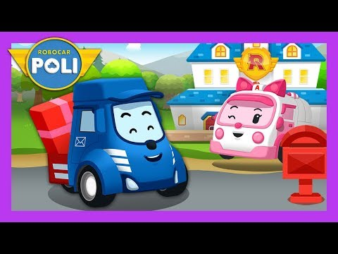 Mail delivery van, Delivery is good! | Occupation&Job play for Kids | Robocar Poli Game
