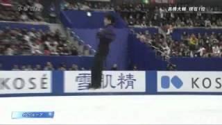 Takahiko KOZUKA - All-Japan championship 2010 FS(※地震情報テロップ...