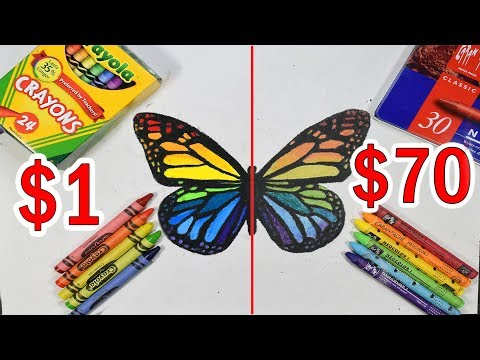 $70 PREMIUM ELITE CRAYONS VS $1 CRAYOLA CRAYONS: Which is worth the money?