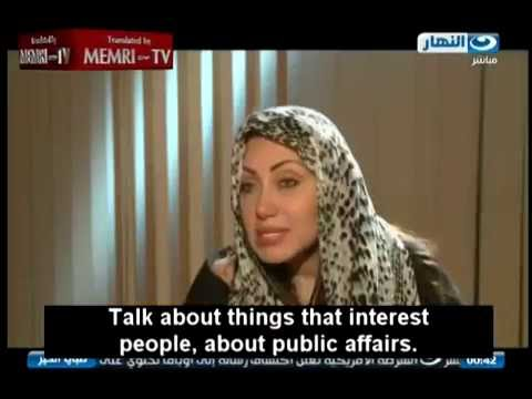 Egyptian TV Host Riham Said  - Clashes with Guest Cleric Yousuf Badri
