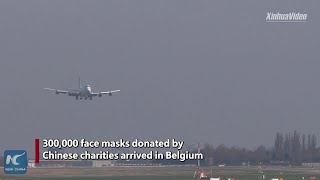 300,000 China-donated masks arrive in Belgium