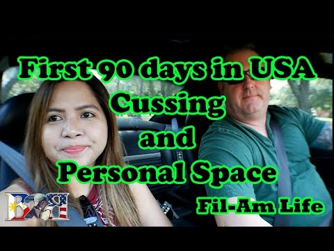 FIRST 90 DAYS IN USA! | Cussing & Personal Space | Filipino-American Couple | Vlog#1