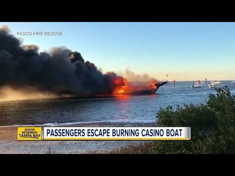 Dozens escape casino shuttle boat fire in Port Richey