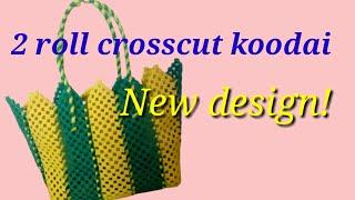 Plastic wire crosscut koodai| Bar stripe crosscut koodai | New Divert knot koodai