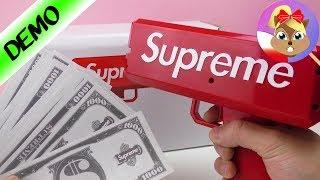 Supreme Money Gun po polsku- pistolet-zabawka wypluwający pieniądze! The Cash Canon | Baw się ze mną