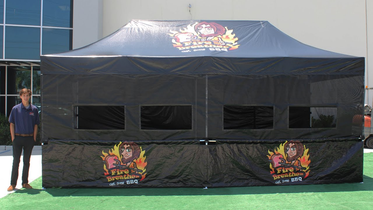 Fire Breather Bbq 10x20 Pop Up Tent Youtube