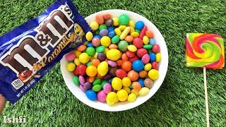 Lots of Smarties M & M colourful sweets unboxing